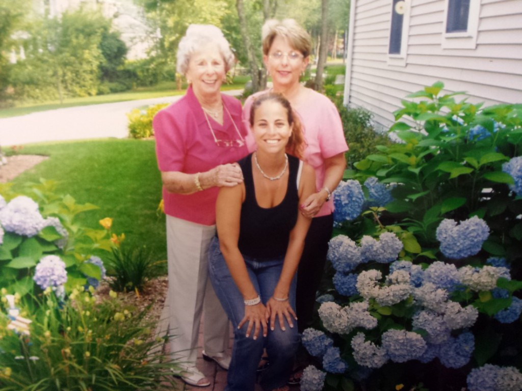 """My Granny and Mom at our """"new house"""""""